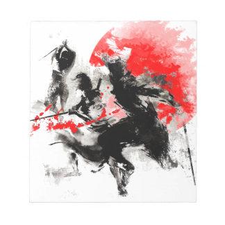 武士の決闘 ノートパッド