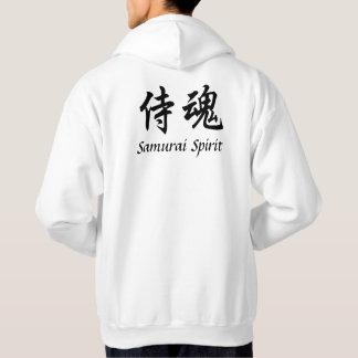 武士の精神の薄い色のフード付きスウェットシャツ パーカ