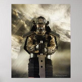 武士の装甲のアジア人 ポスター