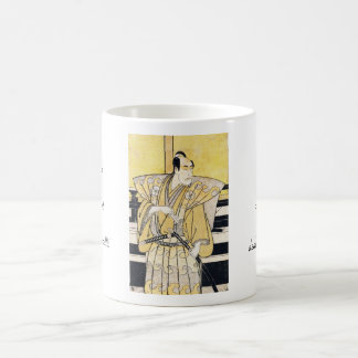 武士のKatanaの芸術としてKatsukawa Shunsho俳優 コーヒーマグカップ