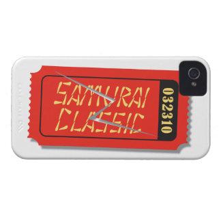 武士クラシックな映画チケットのブラックベリーの箱 Case-Mate iPhone 4 ケース