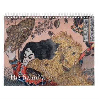 武士 カレンダー