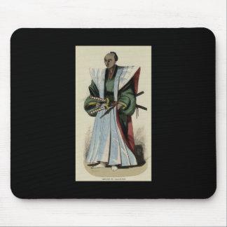 武士、c. 1845-1847年の絵画 マウスパッド