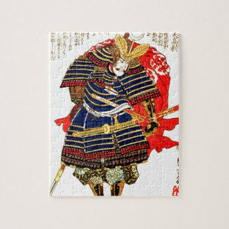武士- Utagawa Kuniyoshiの歌川国芳 ジグソーパズル