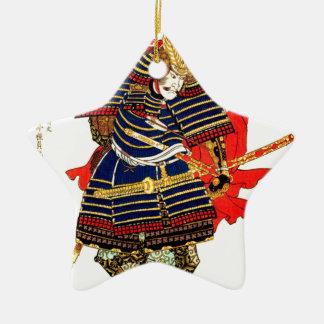 武士- Utagawa Kuniyoshiの歌川国芳 セラミックオーナメント