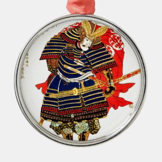 武士- Utagawa Kuniyoshiの歌川国芳 メタルオーナメント