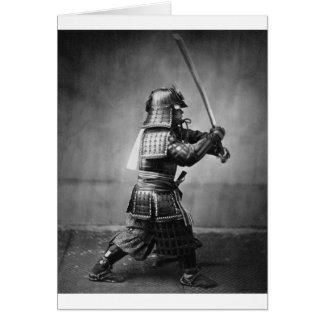 武士C. 1860年の写真 カード