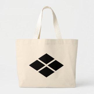 武田信玄家紋、武田Shingen KAMONの日本のな家族Cre ラージトートバッグ