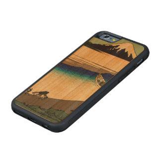武蔵国のTamaの川 CarvedチェリーiPhone 6バンパーケース