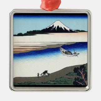 武蔵国HokusaiのTamaの川 メタルオーナメント