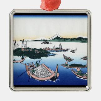 武蔵国HokusaiのTsukadaの島 メタルオーナメント