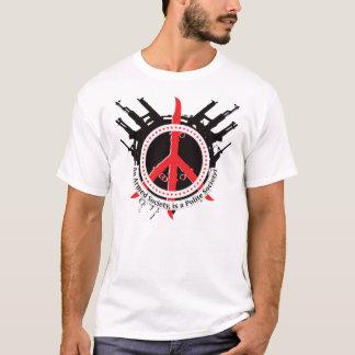 武装した丁寧な社会-赤 Tシャツ