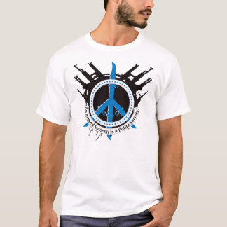 武装した丁寧な社会-青 Tシャツ
