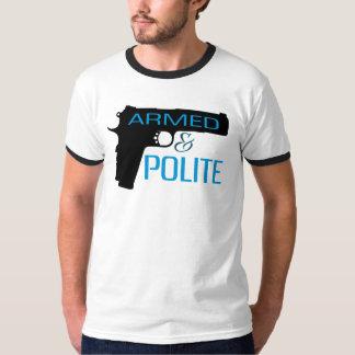 武装した及び丁寧、人の基本的な信号器のTシャツ Tシャツ