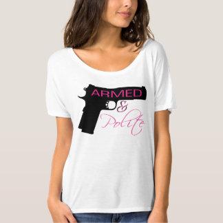 武装した及び丁寧、女性のBellaのだらしないTシャツ Tシャツ