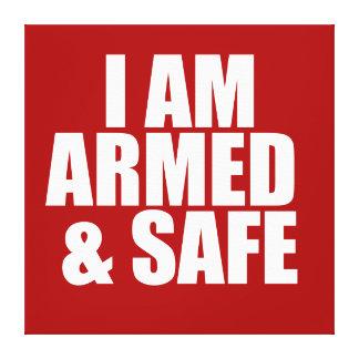 武装した及び安全なポスター キャンバスプリント