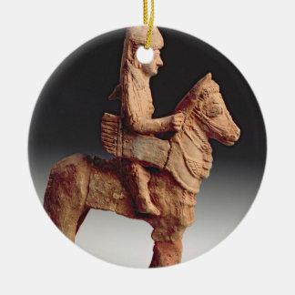 武装した騎手の小像、Byblosの第8第6セリウム セラミックオーナメント