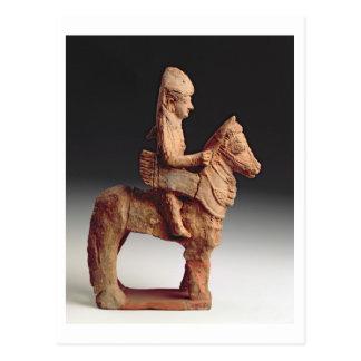 武装した騎手の小像、Byblosの第8第6セリウム ポストカード