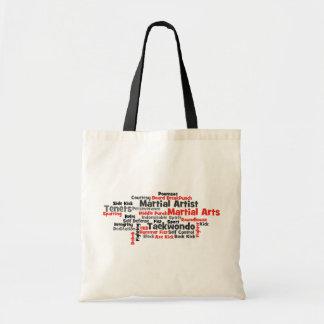 武道のテコンドーの単語の雲 トートバッグ