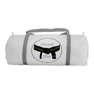 武道の徒弟の黒帯 ジムバッグ