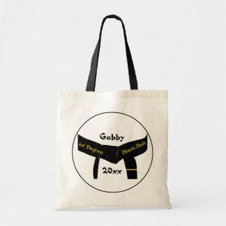 武道の第1程度の黒帯のキャンバスのトートバック トートバッグ