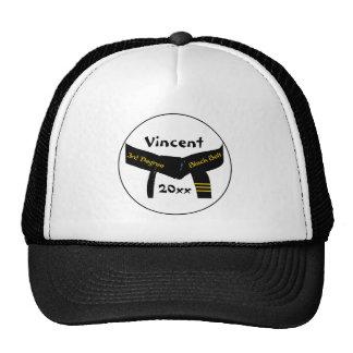 武道の第3程度の黒帯 メッシュ帽子