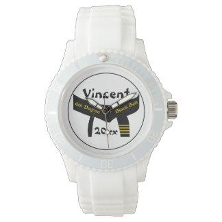 武道の第4程度の黒帯 腕時計