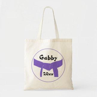 武道の紫色ベルト トートバッグ
