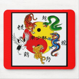 武道5匹の動物 マウスパッド