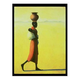歩いている女性1990年 ポストカード