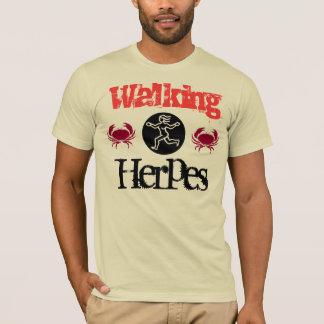 歩くのヘルペス Tシャツ