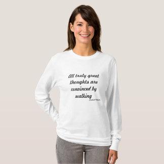 歩くの旅行の~Greatの思考 Tシャツ
