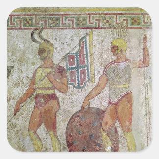 歩兵、Paestumからの墓絵画 スクエアシール