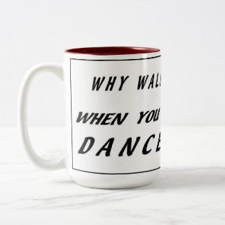 歩行なぜ踊ることができる場合の! メンズマグ ツートーンマグカップ