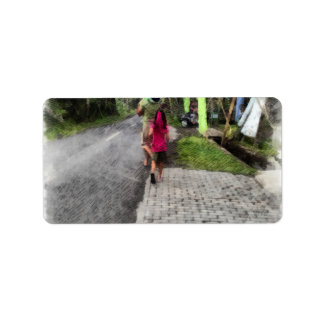 歩行のための子供の取得 ラベル