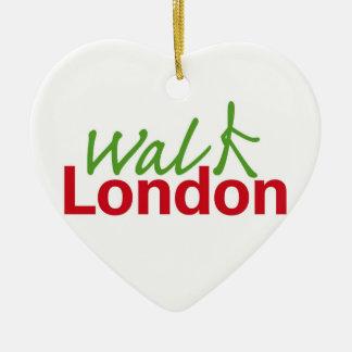 歩行ロンドン セラミックオーナメント