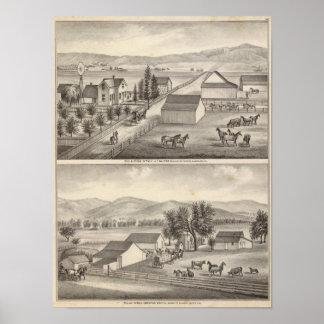 歩行者、Knittelの住宅、農場 ポスター