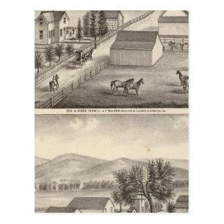 歩行者、Knittelの住宅、農場 ポストカード
