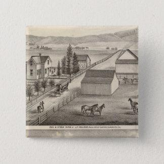 歩行者、Knittelの住宅、農場 5.1cm 正方形バッジ