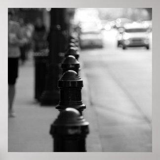 歩道の交通鎖 ポスター
