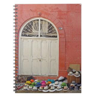 歩道の帽子の店-カルタヘナコロンビア ノートブック