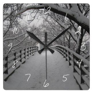 歩道橋 スクエア壁時計