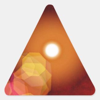 歪むシートの時計のワイシャツのマグ 三角形シール