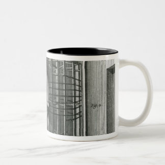 歪む絹の糸、イラストレーションEncylopedia ツートーンマグカップ