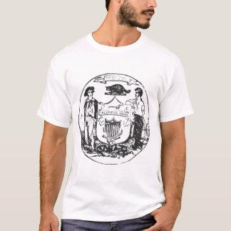 歪められたシールのTシャツ Tシャツ