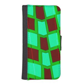 歪められたチェッカーボード iPhoneSE/5/5sウォレットケース