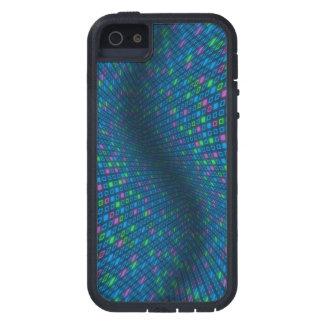 歪められた正方形パターンiPhone 5/5sカバー iPhone SE/5/5s ケース