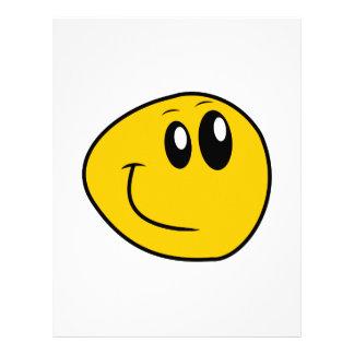 歪められた黄色く幸せなスマイリー レターヘッド