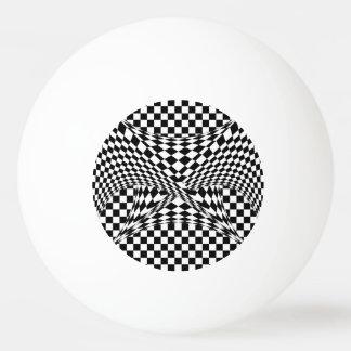 歪んだチェッカー 卓球 ボール