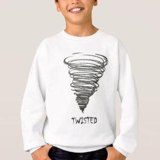 歪んだトルネード スウェットシャツ